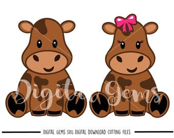 Cows svg / dxf / eps / png files. Digital download. Compatible with Cricut and Silhouette machines. Small commercial use ok.