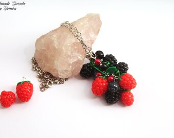 """Red Fruit"" pendant necklace"