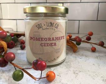 POMEGRANATE CIDER // Natural Soy Candle // 8 oz