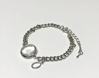 Simple Silver Plated Water Drop Bracelet