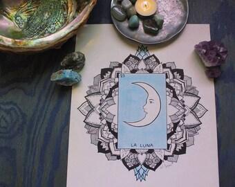La Luna ~ Loteria ~ Art Print