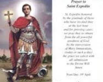 Prayer to St. Expedite Paper Holy Card - One Prayer Card