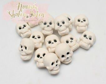 Skull Edible Cake Cupcake Toppers