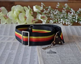 Vintage camera STRAP - Yellow, Orange, Red and Black strap