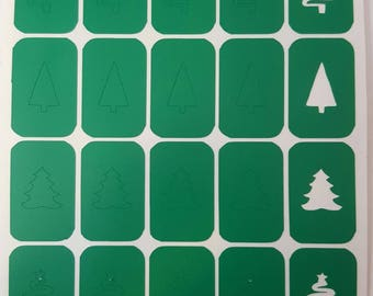 Christmas Tree Variety Decals / Nail Vinyls Winter