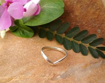 On Sale Sterling Silver Chevron Ring - Sterling Silver Ring - Handmade Ring