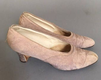 1910 edwardian silk shoes size 9