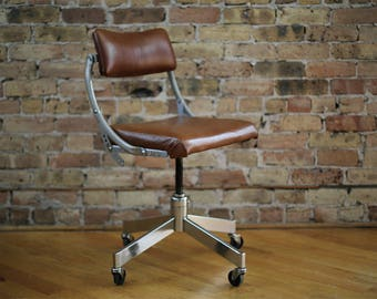 Vintage Industrial Office Chair By DoMore Company