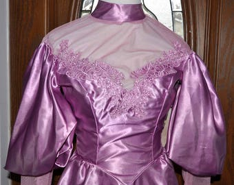 Vintage Mauve Downton Abbey Ball Gown & Shawl, Costume, Theater Gown, Downton Abbey, Mauve Full Length Gown