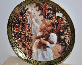 Rare Night Before Christmas Plate From Victorian Christmas Collection, Antique Christmas Plate, Victorian Christmas Plate, Limited Edition