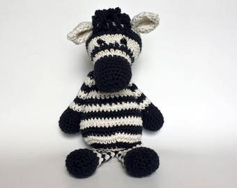 Crochet Stuffed Animal | Zebra Stuffed Animal  | Plush Amigurumi Toy