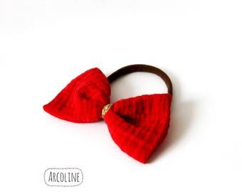 Headband baby headband red cotton gauze