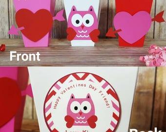 10 Personalized Valentine's Treat Favor Boxes