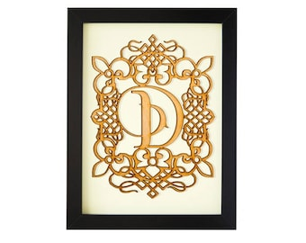 D - FRAMED MONOGRAM