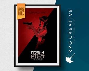 Cowboy Bebop Poster - Faye Valentine Fanart