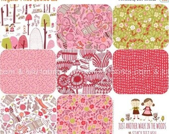 ON SALE Just Another Walk In The Woods -  by Stacy Iest Hsu for Moda Fabrics -  FAT Quarter Bundle - 8 Prints - Fairy Tale - Hansel & Gretel