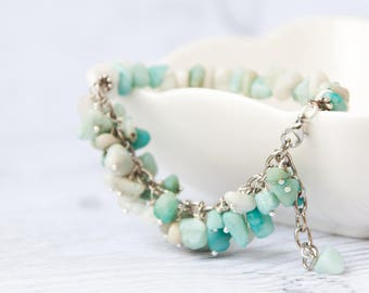 Amazonite jewelry - Multi colored bracelet / Amazonite bracelet / Mint green beaded bracelet
