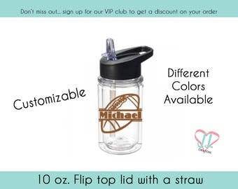 Kids Football Water Bottle - Water Bottle - Gift for Kids