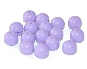 10 purple 8mm acrylic beads