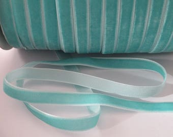 1 m light blue velvet Ribbon 10 mm wide