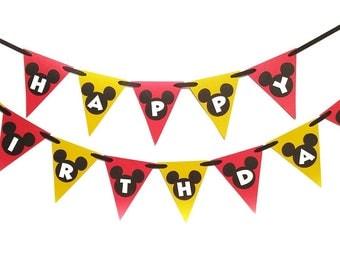 Mickey Banner, Mickey Birthday Party, Mickey Party, Mickey Party Decor, Mickey Party Supplies, Mickey Party Banner, Mickey Birthday
