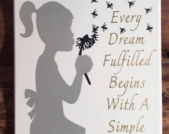 Canvas Wall Hanging Every Dream Quote