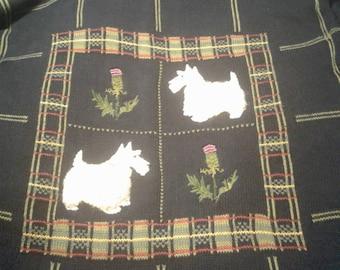 Scotty dog sweater