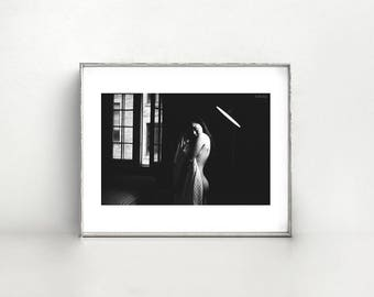Dalla. 8x10 Fine Art Print - Black and White Photography - Woman Portrait
