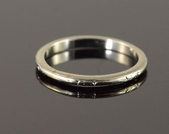 18k 2mm Fancy Engraved Vintage Wedding Band Ring Gold