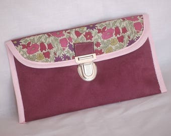 Made to order * suede pouch and Liberty