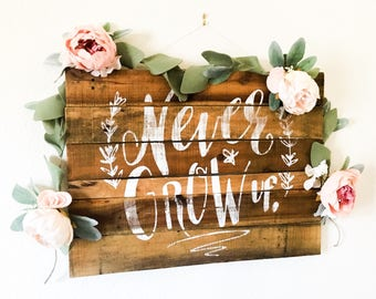 Blush Peony Floral Garland, Peony Garland, Wedding Decor, Nursery Decor, Rose Garland, Birthday Garland, Room Decor, Felt Flower Garland