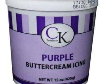 Purple Buttercream Icing - CK Products - 15 oz