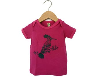 Screen printing - the hoopoe baby t-shirt