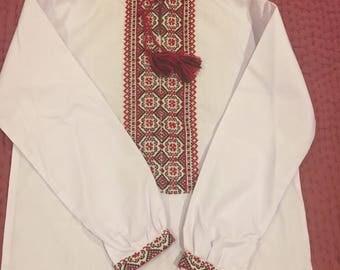 Ukrainian vyshyvanka ethnic boy shirt handmade