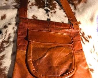 Sale Sale Sale Vintage Georgetown leather sling over the shoulder leather purse