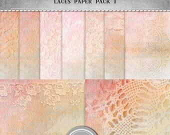 ON SALE sale Laces paper, digital paper, jpg, 12x12 in, printable