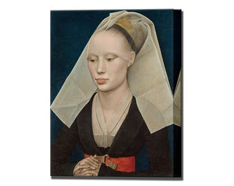 Portrait of a Lady Rogier van der Weyden 1460 Canvas Wall Art Print in 4 Sizes Ready To Hang