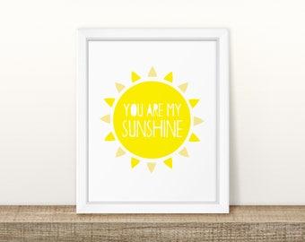 Sunshine - Nursery Print - Children's Wall Art - Baby Nursery Decor