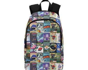 Attraction Poster Inspired Backpack (MADE TO ORDER 4 week processing)