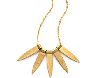 Brass Spines Necklace