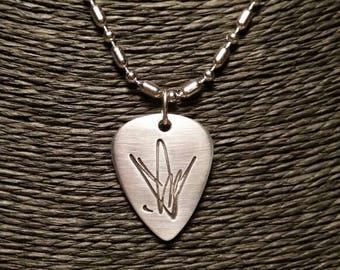 Silver pendant Chris Cornell's autograph