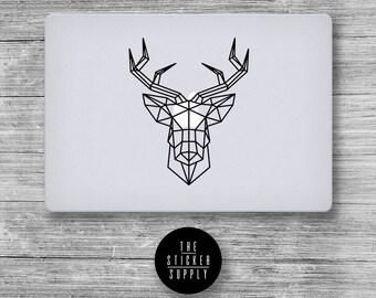 Stag's Head Deer Decal - Macbook Vinyl Sticker Decal