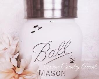 Mason Jar Cannister, Cookie Jar, Vase, Kitchen Canister, Utensil Holder, Storage Jar, Dog Treats