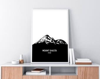Mount Shasta poster print