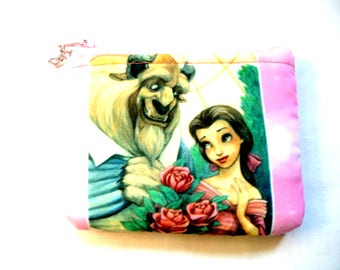 New! coin purse with girl and beast made from children's fabric