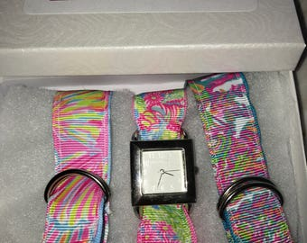 Lilly Pulitzer Lovers Coral Watch set
