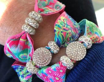 Preppy bling Bracelet Set