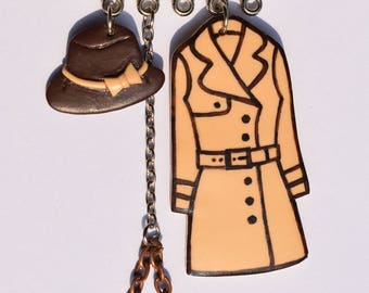 Pendant necklace with miniature coat, boot, handbag, hat, umbrella, unique gift, fun gift, chic necklace, gift for her, necklace for girls