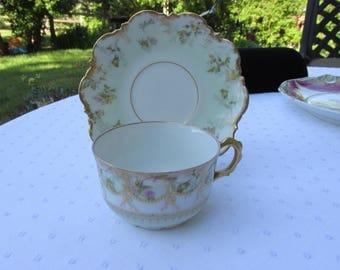 Vintage Cup and Saucer Limoges France