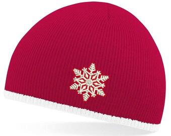coat hat with snowflake